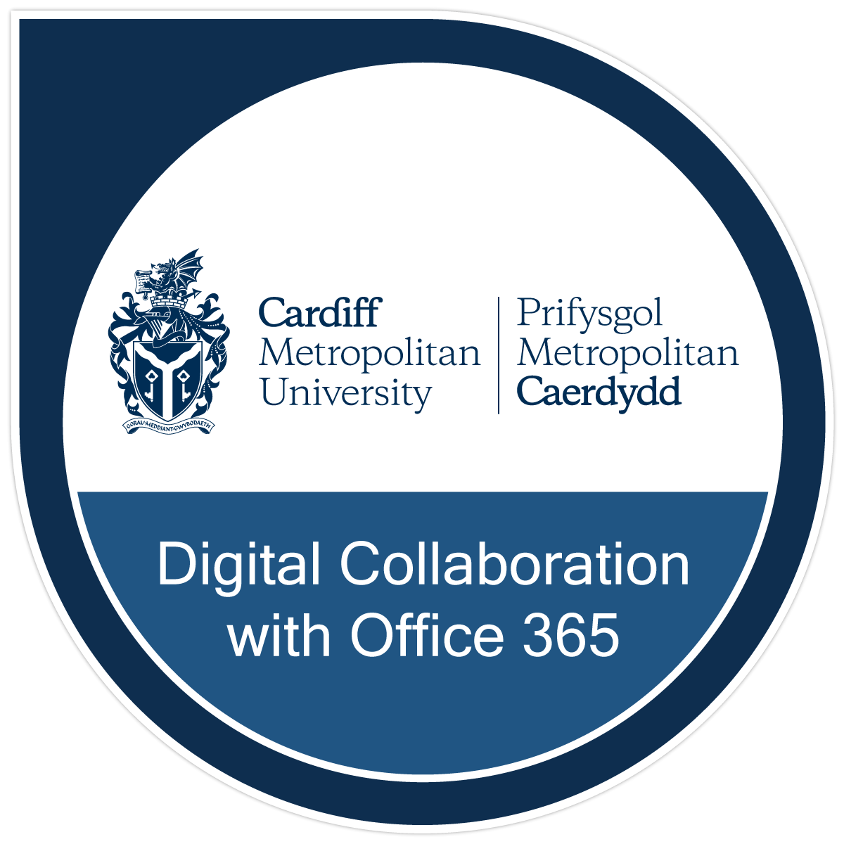The Digital Collaboration with Microsoft Teams and Office 365 badge