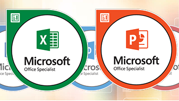 MOS Excel and PowerPoint logos