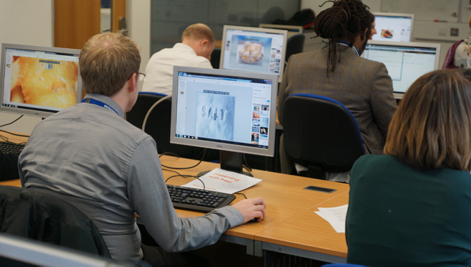 Photo of a Cardiff Met IT Training session